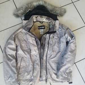 Grey Plaid + Camo Snow JKT